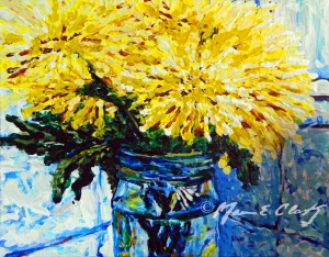 """Flowers & Mason Jar 5"""